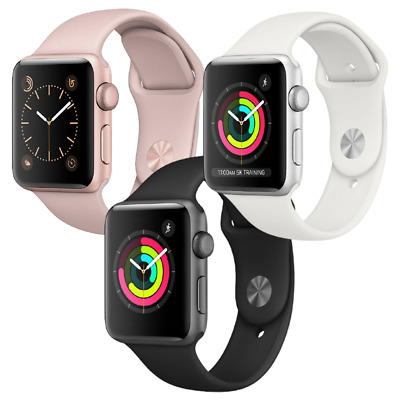 $ CDN163.61 • Buy Apple Watch Series 3 - 38mm 42mm GPS Or Cellular LTE Gold Silver Gray Smartwatch