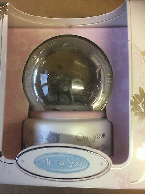 £2.75 • Buy Me To You Bear Wedding Day  New Collectable Water Globe Glitter Globe Gift