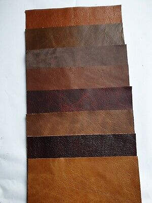 £4.15 • Buy 7 X Leather Pcs 15x10cm Mixed Brown/Red Scraps Offcuts, Remnants  Craft, Repairs