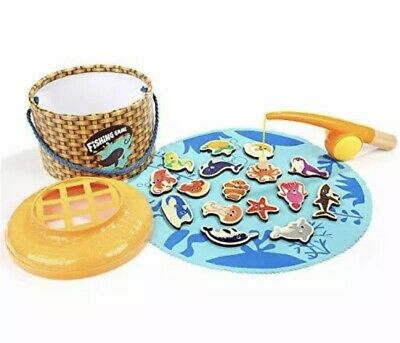 £8.95 • Buy Wooden Magnetic Fishing Game Kids Educational Toy Game