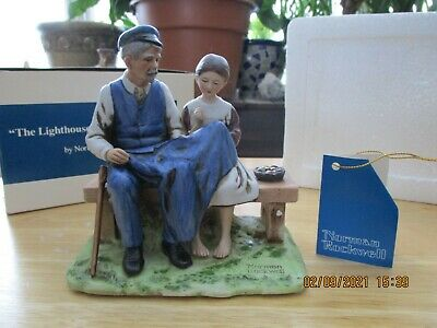 $ CDN18.82 • Buy LOT Norman Rockwell Figurines MINT 1974-1982 COA Lighthouse Keeper's Daughter