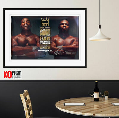 £400 • Buy MIKE TYSON Vs. EVANDER HOLYFIELD (2) : Tyson Signed Don King CCTV Boxing Poster