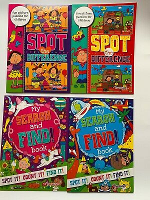 £4.35 • Buy Activity Book 2x Spot The Difference -2x Search & Find Puzzles For Kids/Children