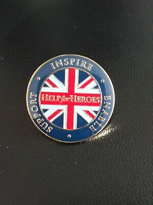 £9 • Buy Help For Heroes Lapel Pin Badge Inspire Enable Support New Blue Red Gold Round