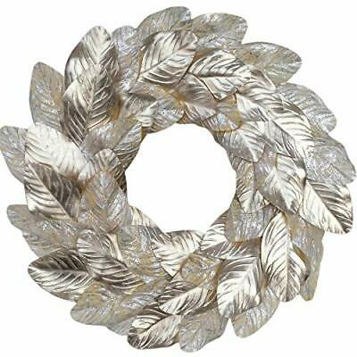 $28.85 • Buy  Magnolia Leaves Wreath 18 Inches Farmhouse Decoration Adjustable Champagne