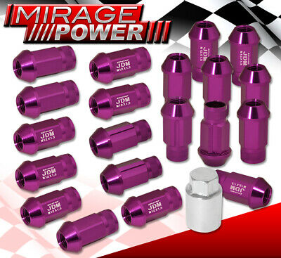 $28.99 • Buy For Toyota M12X1.5MM JDM Extended Aluminum Anodized Purple 20PC Lug Nuts Adapter