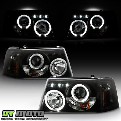 $178.99 • Buy Black Smoke 2001-2011 Ford Ranger LED Halo Projector Headlights W/ Corner Lights