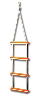 £24.99 • Buy Boat Safety Rope Ladder 4 Step Boat Boarding Ladder Yacht Sailing New J71