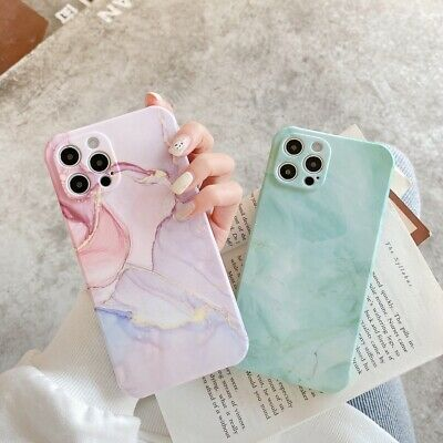 AU7.34 • Buy Soft Liquid TPU Marble Phone Cover Case For IPhone 7 8+ 11 12 13 Pro Max XS XR
