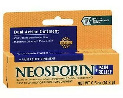 £6.02 • Buy Neosporin + Pain Relief Dual Action Antibiotic Ointment, 0.5 Oz  EXP 04/22