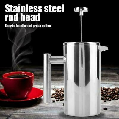 £15.99 • Buy Modern Cafetiere French Press Coffee Maker 3/6/8 Cup Plunger Stainless Steel DIY
