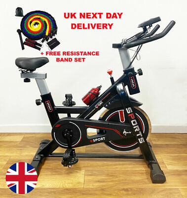 Excersize Spin Bike Indoor Cycling Home Fitness Flywheel Workout With Free Gift • 184.99£