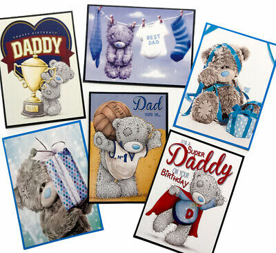 £2.39 • Buy 6 X Teddy Card Toppers/Pictures Daddy/Dad Birthday - For Card Making/Tags MALE
