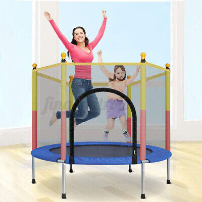 AU85.64 • Buy 4.6FT Kids Children Round Trampoline Enclosure Safety Net Jumping Indoor Outdoor