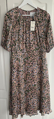 AU312.61 • Buy LK Bennett Silk Pink Sukie Dress Size 14 BNWT RRP £475