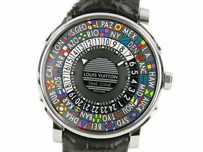$ CDN6837.30 • Buy LOUIS VUITTON Escal Time Zone Q5D20 World Time Gray Dial AT Men's Watch Ex++