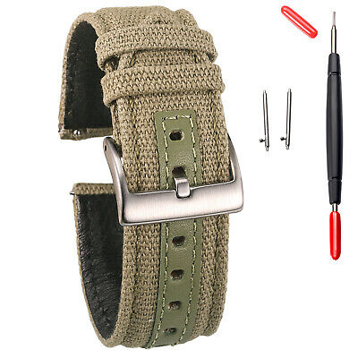 $12.99 • Buy Canvas Watch Bands, Quick Release Watch Strap, Military Fabric Replacement Bands
