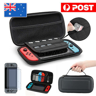 AU12.95 • Buy EVA Hard Carrying Case Bag &Tempered Glass Screen Protector For Nintendo Switch