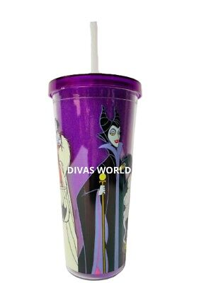 £16.99 • Buy Disney Villains Tumbler Cruella Evil Queen Coffee Cup With Lid & Drinking Straw