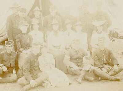 $18.95 • Buy Antique Post CIvil War Photograph - Soldiers And Women In Camp