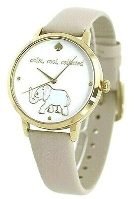 $ CDN95.24 • Buy KATE SPADE  METRO  Calm Cool Collected  Elephant Watch, Gray Leather KSW9024 NIB