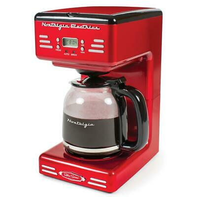 View Details Coffee Maker 12-Cup Pause Keep Warm Function Retro Red Programmable Anti-Drip  • 61.52£