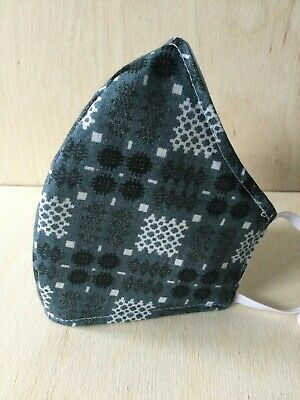 Brand New Welsh Wool Tapestry Print Face Mask FREE P&P 100% Cotton Dark Blue • 7.99£