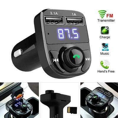 £9.99 • Buy UK Car Wireless Bluetooth FM Transmitter MP3 Player USB Car Fast Charger Adapter