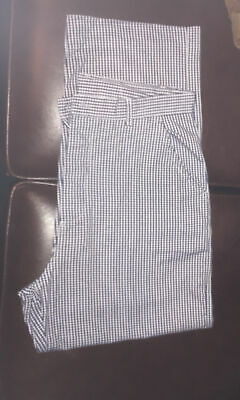 """£3.50 • Buy Blue/White Check Chefs Trousers Size 34""""Waist"""