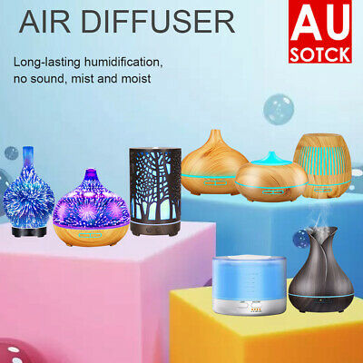 AU24.39 • Buy LED Aroma Aromatherapy Diffuser Essential Oil Ultrasonic Air Humidifier Purifier