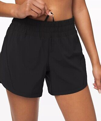 "$ CDN119.25 • Buy Lululemon Track That Short 5"" ~ New Release~ Black~ Sz 12 ~ Free Usps Ship"