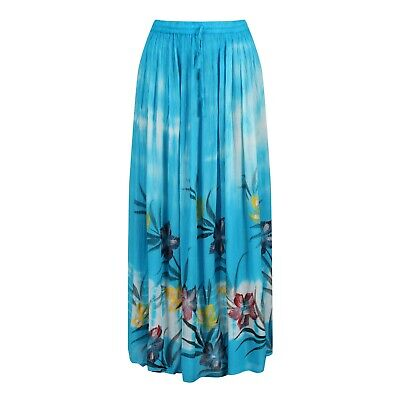 £7.99 • Buy Long Tie Dye Floral Print Summer Maxi Skirt BNWT Size 10-16 | Various Colours