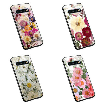 £8.99 • Buy Printed Dried Pressed Flowers  L205  Tempered Glass Silicone Phone Case