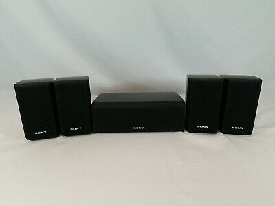 £29.08 • Buy Set Of 5 Sony Surround Sound Speakers 4 Front Rear SS-MSP2 & 1 Center SS-CNP2