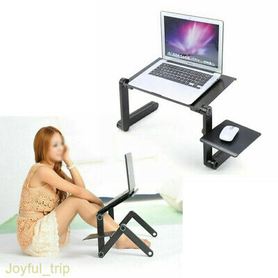 £8.49 • Buy Durable Portable Foldable Notebook Laptop Desk Table Stand Bed Tray W/Cup Pad UK