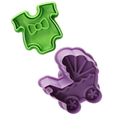 £3.82 • Buy 4PCS/Set Stamp Plunger Cutter Cookie Mold DIY Hand Press 3D Baby Clothes Shower