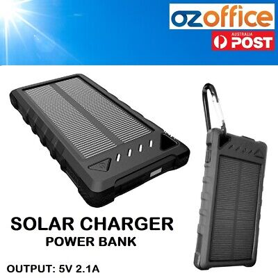 AU19.90 • Buy 8000mAh Portable Solar Charger USB Power Bank Phone Charger With Flash Light
