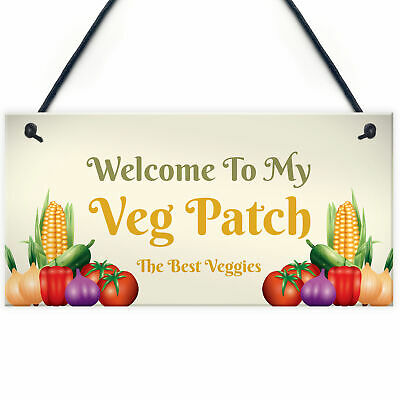 Novelty Vegetable Patch Sign Garden Sign Allotment Garden Shed Greenhouse Sign • 3.99£
