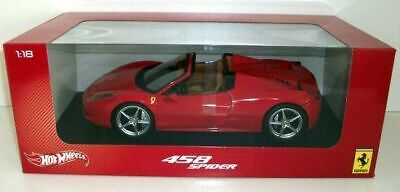 Hot Wheels 1/18 - X5527 Ferrari 458 Spider - Red • 79.99£