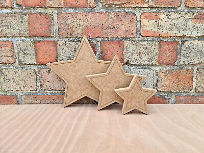 £2.16 • Buy Free Standing Solid Star Craft Blank Shape Wooden MDF 18mm - 3 Height Options