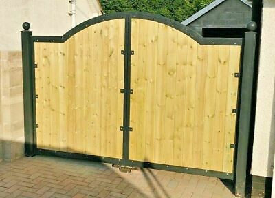 £680 • Buy Curve Top Driveway Gates Composite Galvanised Heavy Duty Gate
