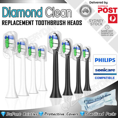 AU18.79 • Buy DIAMOND CLEAN Replacement Brush Heads Philips Sonicare Toothbrush Compatible AU