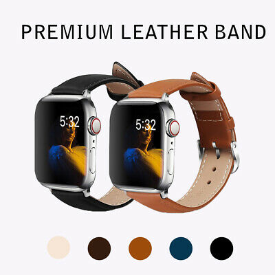 AU10.49 • Buy Premium Leather Strap IWatch Band For Apple Watch 6 5 4 3 2 1 SE 38/40 42/44