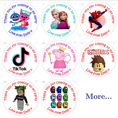 £3.09 • Buy Personalised Birthday Stickers For Party Bags And Sweet Cones - Gloss Or Matt