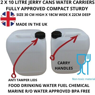 £10.99 • Buy 2 X 10 Litre Water Container Food Grade Stacking Compact Strong Bpa Free New