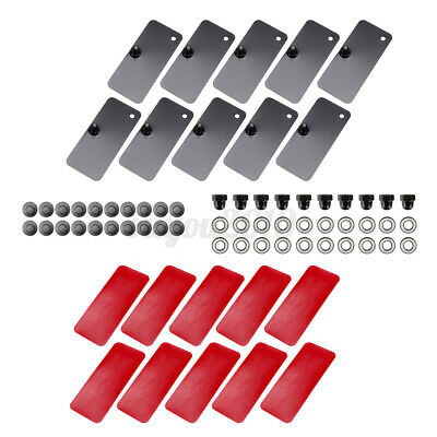 $26.99 • Buy 10PCS Rear Window Louver Replacement Hardware Double Sided Mounting DIY Kits