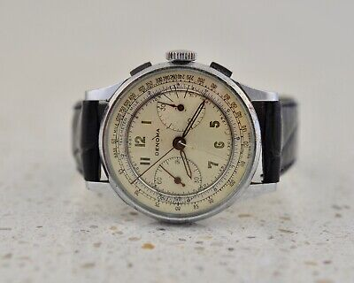 $ CDN168.56 • Buy DENOMA By Hyde Park Watch Co Stainless Steel Vintage 1950 2-register Chronograph