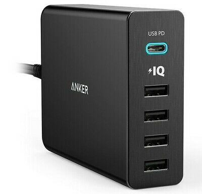 AU79 • Buy Anker PowerPort+ 5 Ports USB-C Wall Charger - Power Delivery - 60W - AU Version