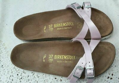 Birkenstock Pearly Rose Yao Two-strap Sandals - Uk 4.5, Eur 37 Narrow Fit • 29£