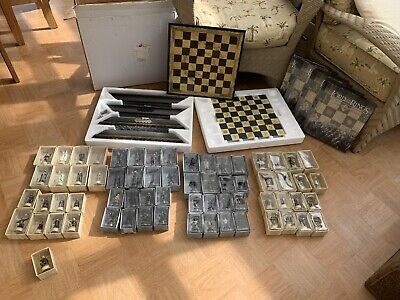 £600 • Buy Eaglemoss Lord Of The Rings Chess Set 1 & 2 Complete Magazines Deluxe Board